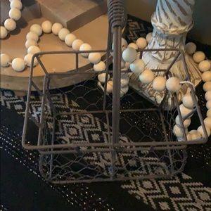 Farmhouse basket chicken wire wrought iron